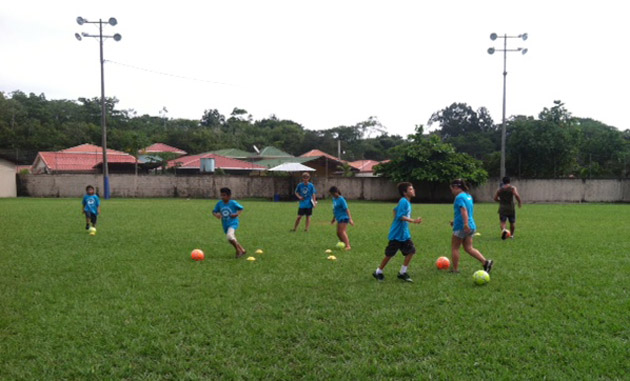 <p>By the second day of soccer camp, participants were already showing improvement.</p>