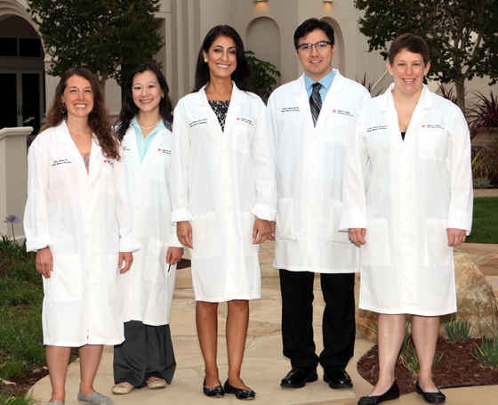 <p>Five resident physicians who began their Residency Program at Marian Regional Medical Center this month are, from left, Jenna Martini, D.O.; Terry Chen, D.O.; Farnaz Baqai, D.O.; Behnam Vahadti Nia, D.O.; and Jennifer Roberts-Kelly, D.O.</p>