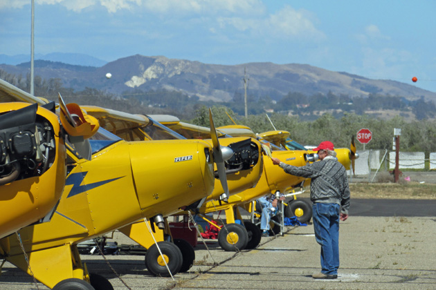 About 50 Piper Cubs and their owners have converged upon the Lompoc Airport for this weekend's 31st annual West Coast Fly-In celebrating the vintage aircraft.