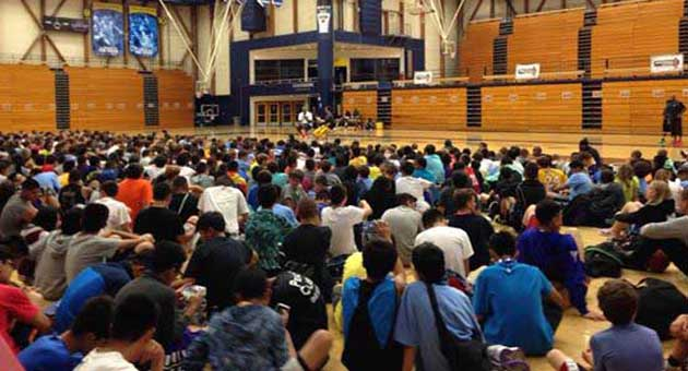 <p>More than 500 campers are on the UCSB campus this week to attend NBA superstar Kobe Bryant&#8217;s annual basketball camp.</p>