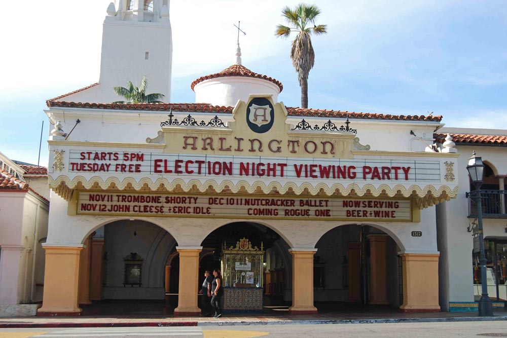 Election Day results coverage from CNN will be streaming at The Arlington Theatre in Santa Barbara starting at 5 p.m. Tuesday.