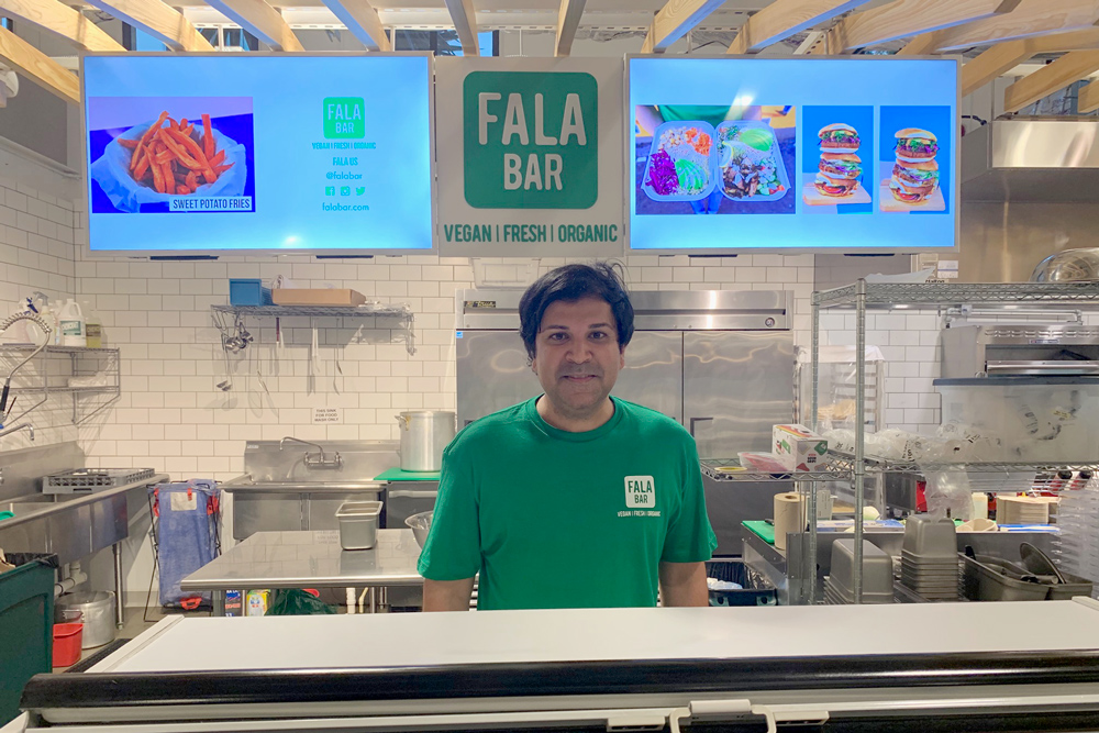Far is the proprietor of the new Fala Bar vegan restaurant in the Santa Barbara Public Market.