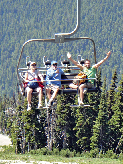 Hop on a ski lift for a 20-minute ride to the top of Blackcomb Mountain.