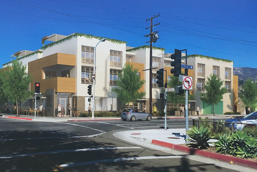 A proposal to build a 28-unit rental apartment project for young workers on the corner of Haley and Laguna streets has focused a spotlight on the city's high-density housing program, in one of the Santa Barbara's busiest commercial zones.