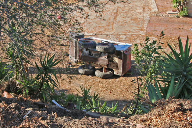 A Mission Canyon man was seriously injured Saturday when the tractor he was driving tumbled down a hillside.