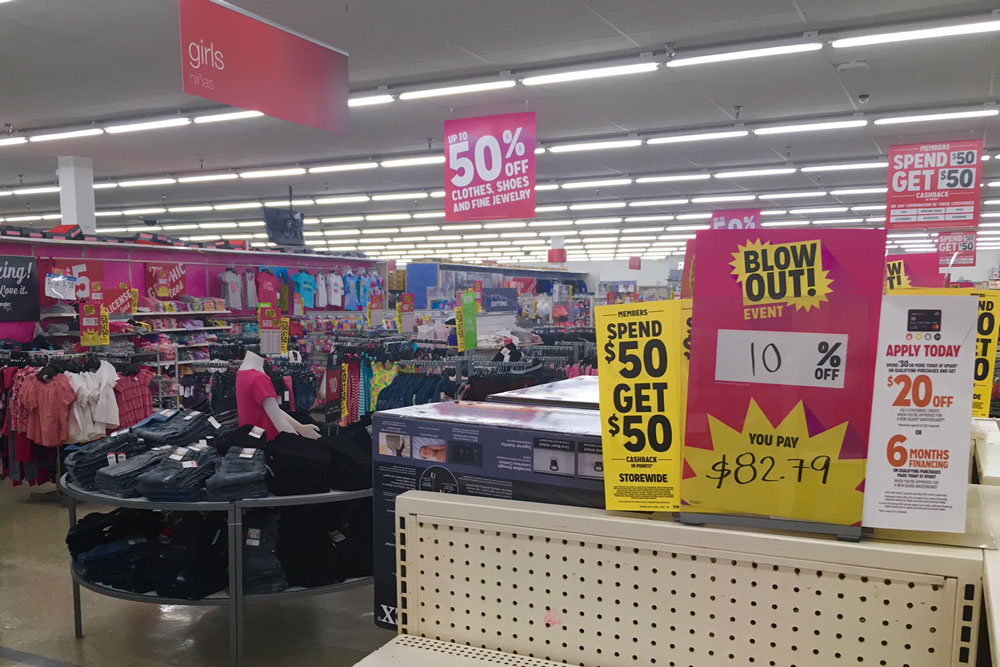 Interior Of Kmart Store