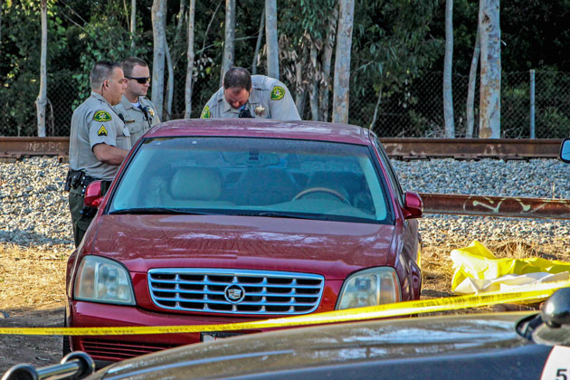 Santa Barbara County sheriff's deputies responded to Old Town Goleta Tuesday evening after a pedestrian was struck and killed by an Amtrak train.