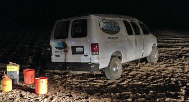 <p>The driver of this van was killed early Tuesday in a rollover accident on a rural road east of Orcutt.</p>