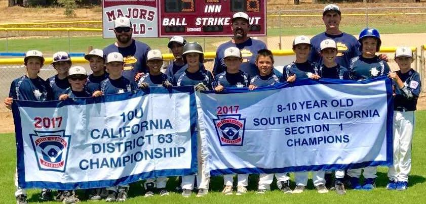 The Dos Pueblos Little League 10-under All Stars added the Section 1 championship banner to their collection this summer.