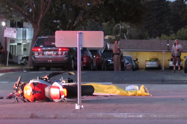A motorcyclist was killed Sunday night in a possible DUI crash crash on Santa Maria Way in Orcutt.