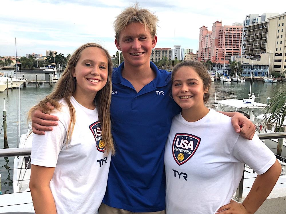 USA Youth Water polo players win medals.