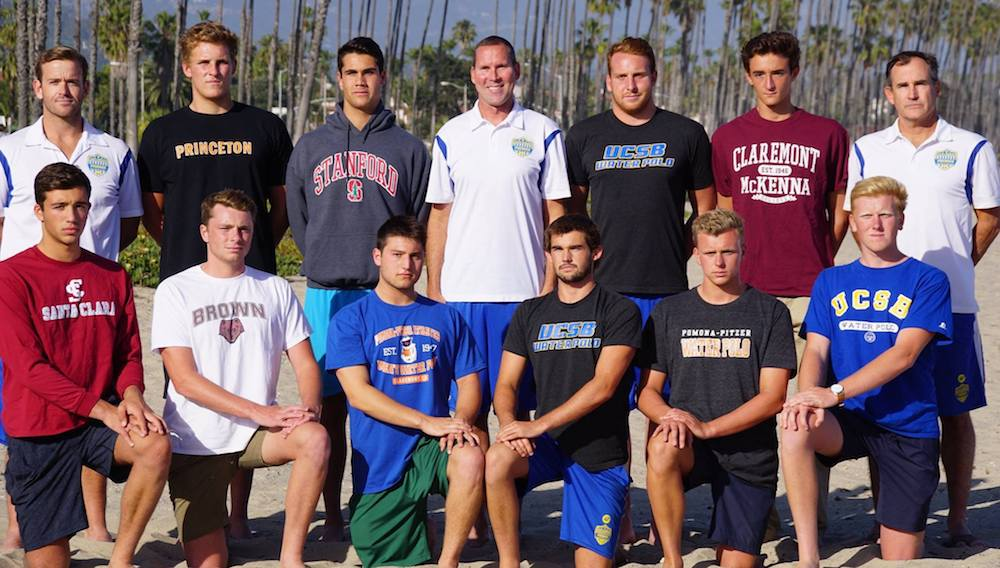 The Santa Barbara Premier Club's 18-under team includes, top row, from left: Coach Paul Wilson, Miles Cole, Sawyer Rhodes, Club Director Ryan McMillen, Taylor Gustason, Koss Klobucher, and Coach Ian Wood; front row: Jack Rottman, Adam Fuller, Adam Gross, Spencer Wood, Dyan Elliott and Jesse Morrison. Not pictured, Caleb Sandberg.