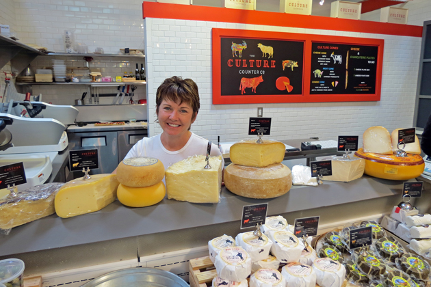 Catherine Bodziner is now the Big Cheese at the Culture Counter Co. in the Santa Barbara Public Market. (Gina Potthoff / Noozhawk photo)