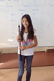 Oboe player benefits from instrument drive.