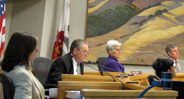 <p>The Santa Barbara County Planning Commission on Tuesday listens to a representative of First Solar speak about the Cuyama Solar Facility proposed for the Cuyama Valley.</p>