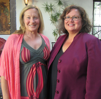 New Beginnings Counseling Center Executive Director Kristine Schwartz, left, and Santa Barbara City Councilwoman Cathy Murillo.