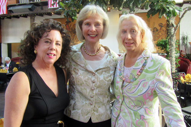 <p>New Beginnings Counseling Center board president Diane Pannkuk, left, with Lois Capps, center, honoree and congresswoman, and honorary committee member Betty Stephens at the center&#8217;s tribute at El Paseo Restaurant.</p>