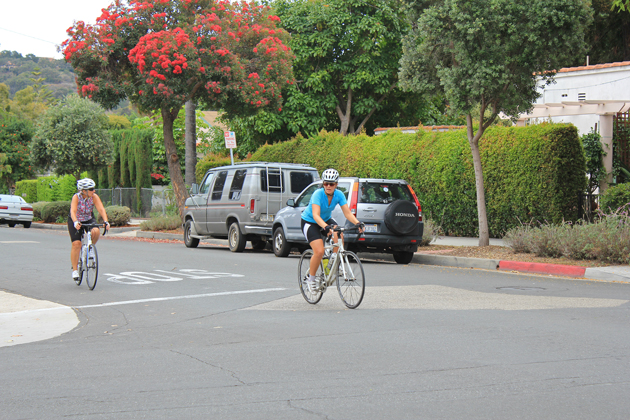 Some Westside residents oppose the proposal to turn some neighborhood streets into one-way streets with bike lanes, including Chino Street which is shown here.