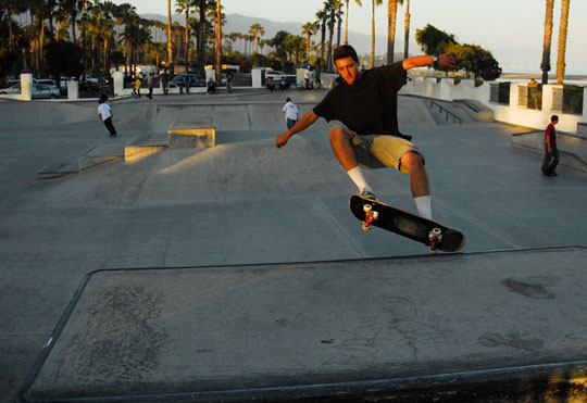 Santa Barbara's skate park, Skater's Point, was designed by Mike Taylor, who is also working on the design for the Isla Vista park