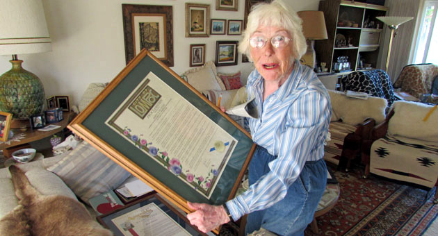 <p>Lompoc Valley volunteer Marie Schlueter, 92, was surprised to learn she was named Woman of the Year by the Lompoc Valley Chamber of Commerce.</p>
