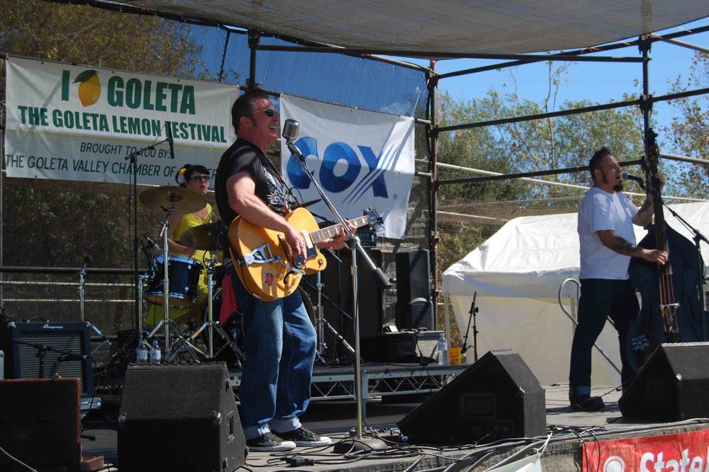 The Phantom Pomps performed rockabilly at the California Lemon Festival in Goleta on Saturday. The 25th annual festival continues from 10 a.m. to 5 p.m. Sunday at Girsh Park.