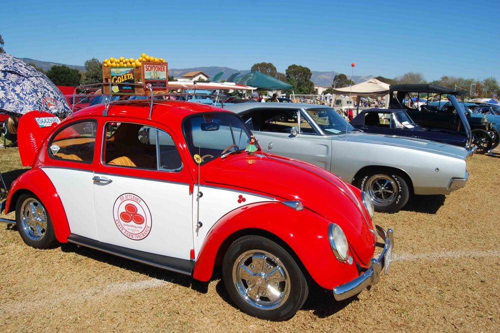 Goleta resident Ed Attlesey's 1966 red classic Volkswagen Beetle was featured in the 11th Annual Goleta Fall Classic, which was hosted at Girsh Park as part of the California Lemon Festival.