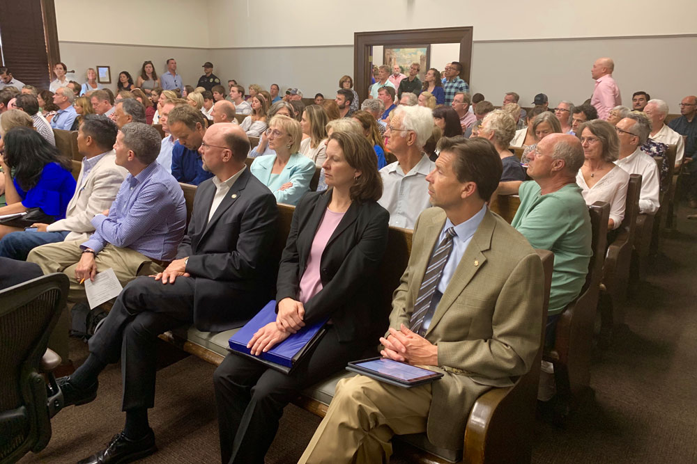 A large crowd turned out Thursday for a Santa Barbara City Council discussion.