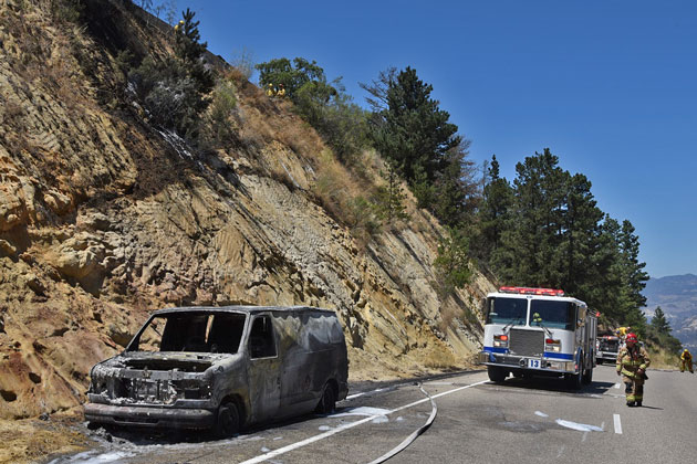 Motorcycle Oil Change Near Me >> A fire that destroyed a van Sunday afternoon along eastbound Highway 154 near the San Marcos ...