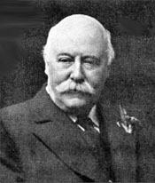 Like so many English composers, Charles Hubert Parry looks more like a banker than a musician.