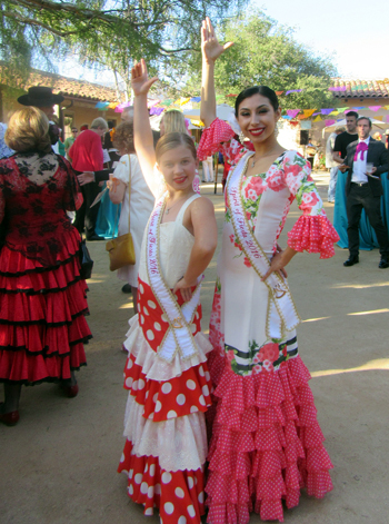 Junior Spirit of Fiesta Sarah Naretto, left, and Spirit of Fiesta Alexis Simentales.