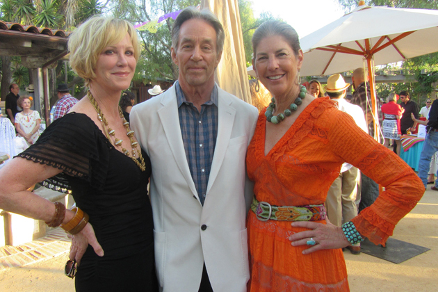 Honorary co-chairs Joanna Kearns, left, and Marc Appleton with Santa Barbara Historical Museum board president Sharon Bradford at La Fiesta del Museo on July 23 at the museum.