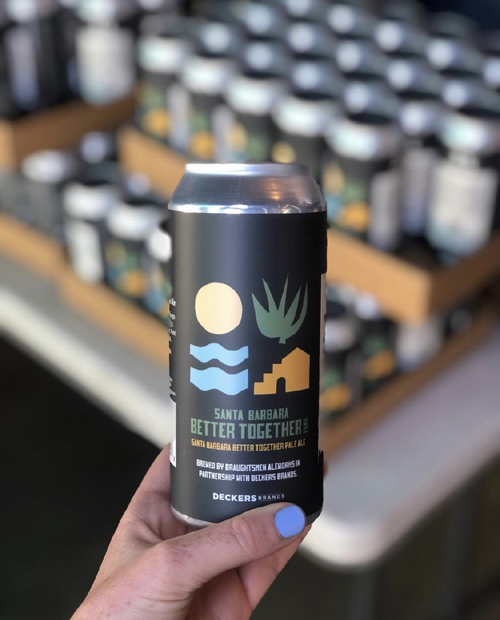 Draughtsmen Aleworks and Deckers, in partnership with Santa Barbara Better Together, created a co-branded beer with proceeds donated to benefit small businesses.