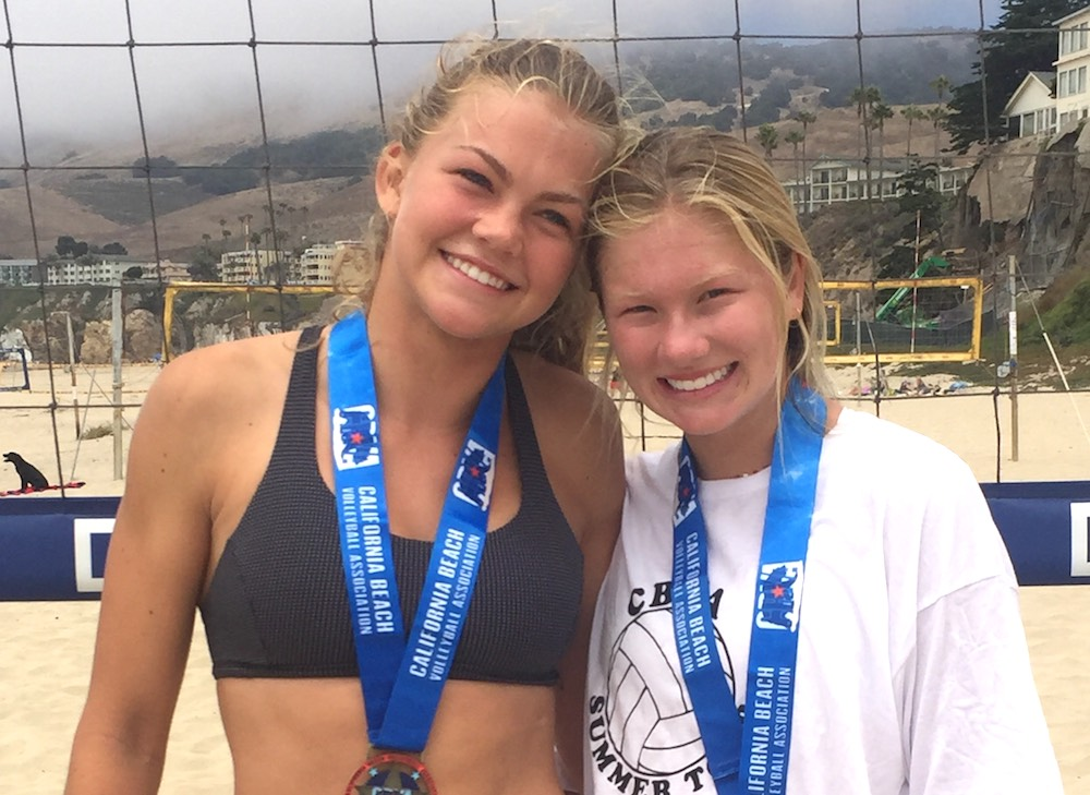 Taylor Wilson, left and Tiffany Medel captured the 14-under division title in a 30-28 battle with Portia Sherman and Erin Curtis at Pismo Beach.