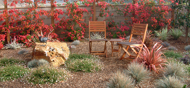 <p>One of the colorful, water-conserving gardens that Joan Bolton will feature during her talk at the Aug. 7  meeting of the Santa Barbara County Horticultural Society.</p>