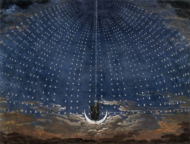<p>The Queen of the Night&#8217;s entrance from an 1816 production of &#8220;The Magic Flute.&#8221;</p>