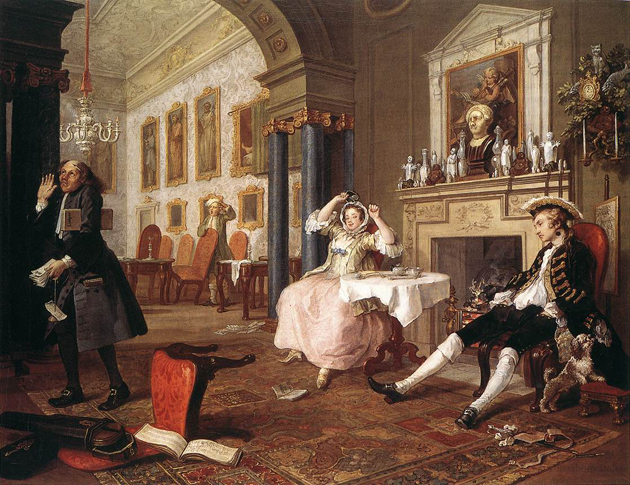 With Marriage à la Mode, painter William Hogarth left us indelible impressions of naughty 18th-century England.