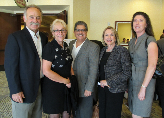 From left, Schipper Construction's Paul Wieckowski with his wife Dona, Tony Morelli, Susan Rodriguez of Brown and Brown Insurance, and Laura Meeker.