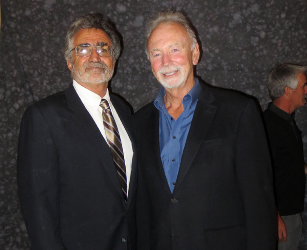 SBCA 2014 Builder of the Year Rodney Utt, right, with client Peter Kornbluth.