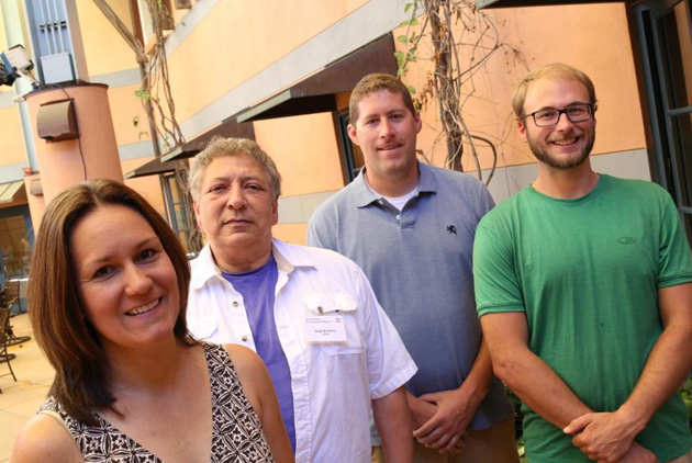 <p>The UCSB Kavli Institute for Theoretical Physics 2014 teachers in residence: JulieAnn Villa, Nick Nicastro, Tom Jacobson and Ryan Strickland.</p>