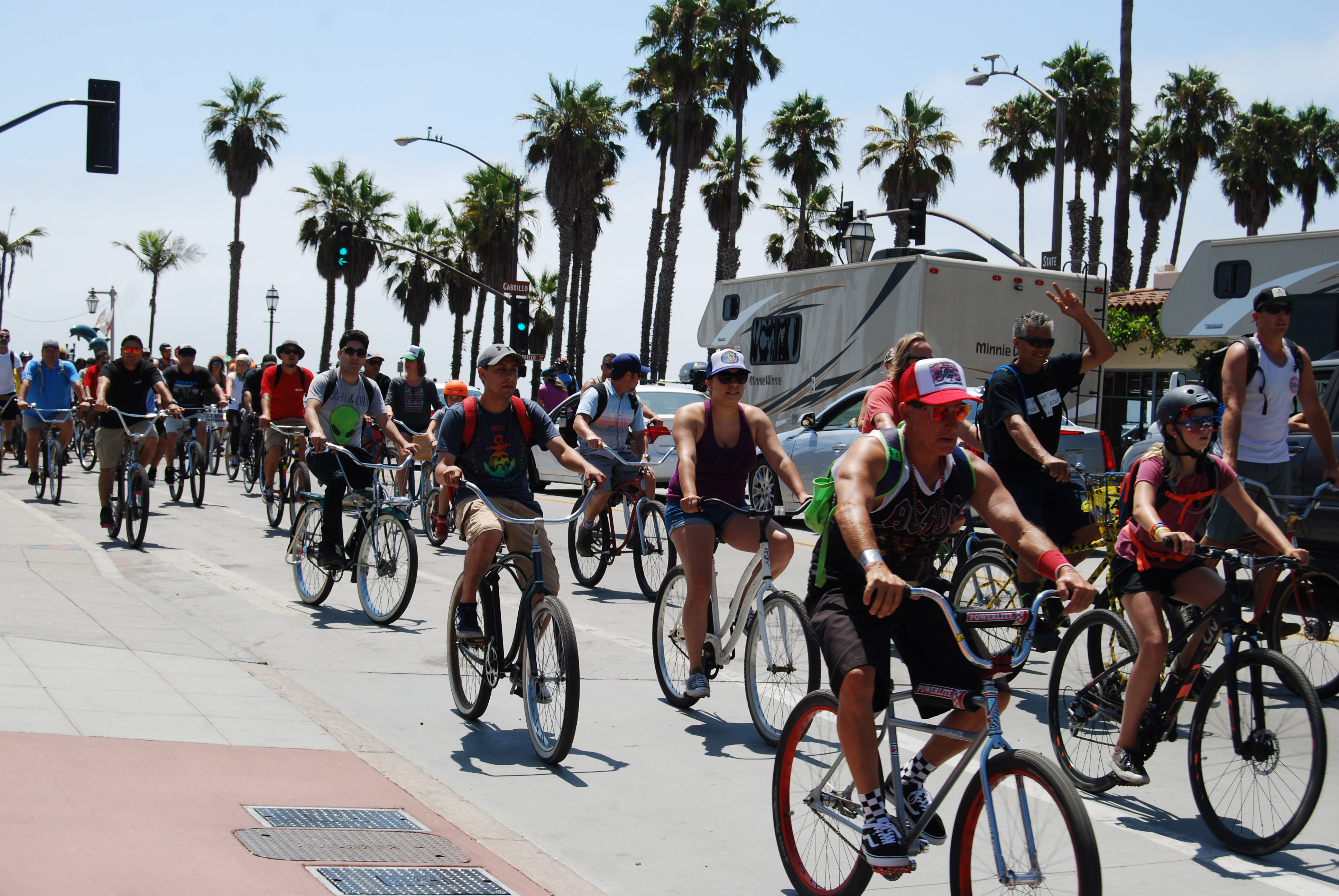 Hundreds of cyclists participated in Sunday's annual Fiesta Cruiser Ride.