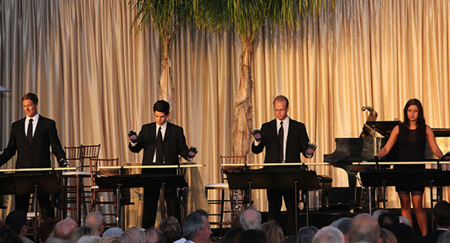 "<p>The Music Academy of the West&#8217;s Percussion Ensemble performs ""Board Games"" by Joseph Tomkins for an enthusiastic crowd at the organizations annual Cabaret Gala.</p>"