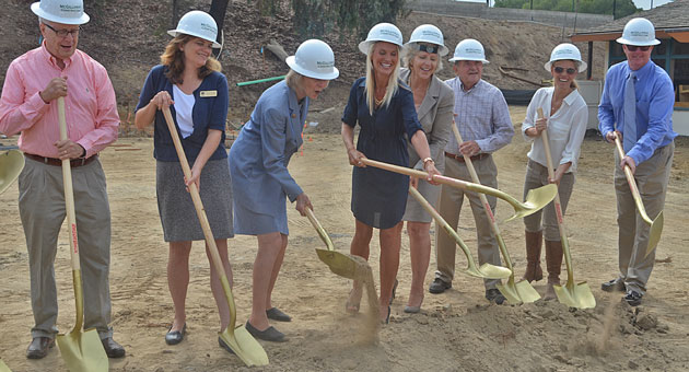 <p>Adams Elementary School celebrates the long-awaited library with a groundbreaking ceremony Thursday morning.</p>