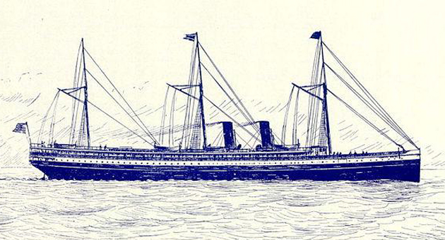 The Santa Rosa steamship was 326 feet long and considered a workhorse of the Pacific Coast Steamship Company fleet.