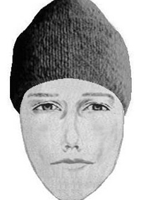 Sketch of suspect in January incident.