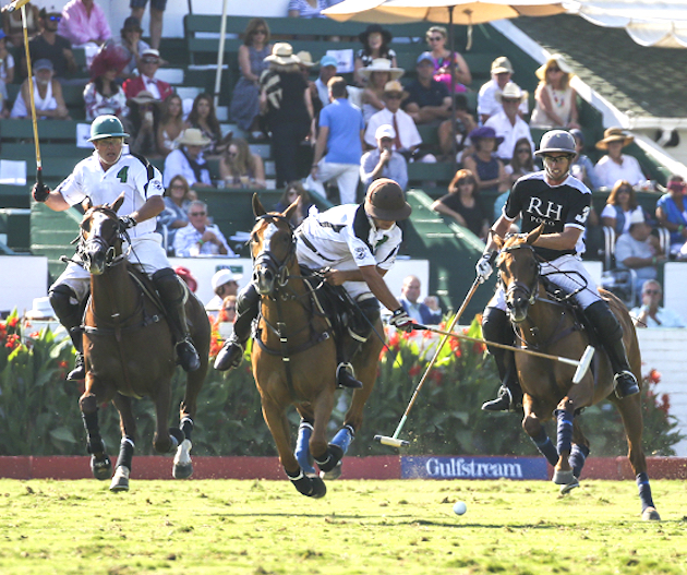 Farmers & Merchants Banks (white) and Restoration Hardware are two of the six teams competing in the Gulfstream Pacific Coast Open.
