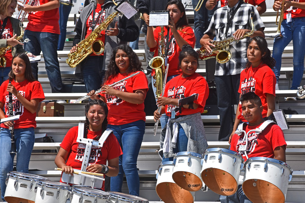 The Santa Maria High Saints Band performed Friday during the annual March of the Saints at Santa Maria High School.