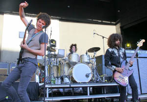 Wolfmother played an energetic hour-long opening set Sunday night
