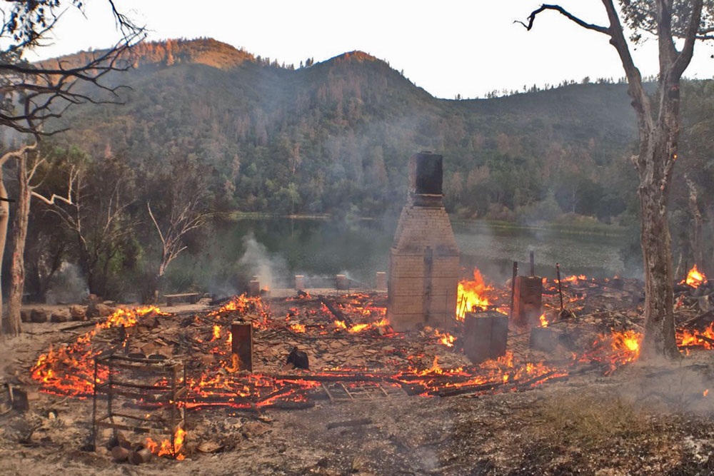 Authorities are investigating the cause of the fire that destroyed the Zaca Lake Retreat lodge Wednesday night.
