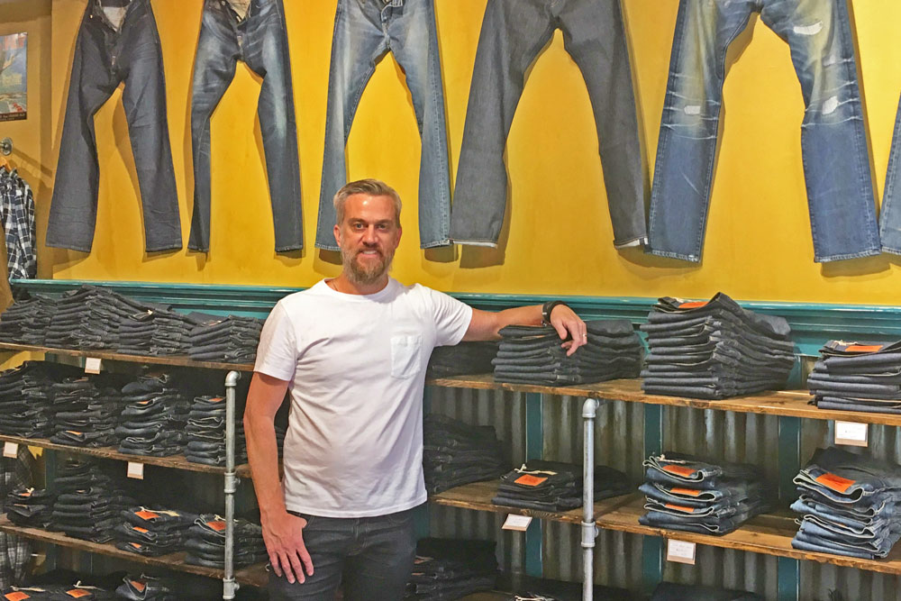 Beau Lawrence has opened Ace Rivington, a denim and homespun French terry sweatshirt shop at 1114 State St. in Santa Barbara.