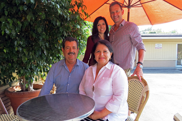 Members of the same Santa Barbara family who established Rudy's Mexican Restaurant nearly 40 years ago will soon open Cito Street Café at West Montecito and Bath streets. Andrea and Neal Steward, in back, are spearheading the effort, supported by Andrea's parents, Alma and Rudy Alvaro.